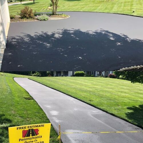 A Completed New Asphalt Pave Drive